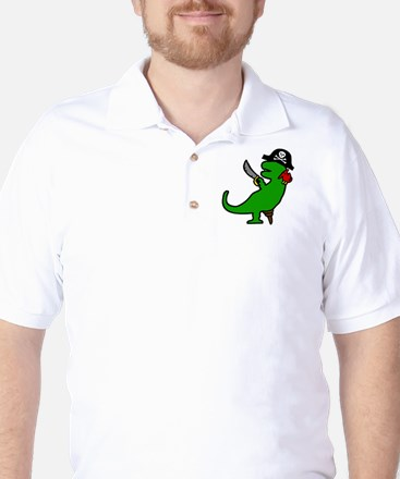 Pirate Dinosaur Golf Shirt