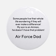 AF Dad Son Difference Ornament (Round)