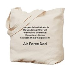 AF Dad Son Difference Tote Bag