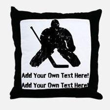 Personalize It, Hockey Goalie Throw Pillow