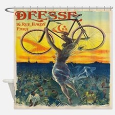Vintage Paris Fairy Bicycle Shower Curtain