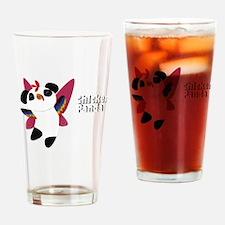 Chicken Panda! - Dark Drinking Glass