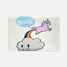 Cute Unicorn Fart! ... TOOT! Rectangle Magnet