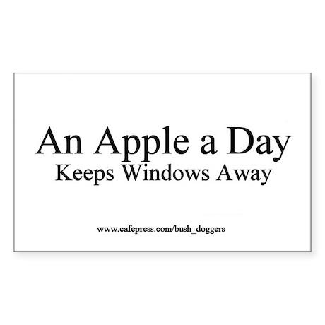 An Apple A Day Keeps Windows Away Bumper Sticker