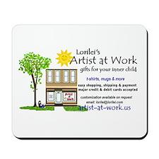 Artist at Work Shop Mousepad