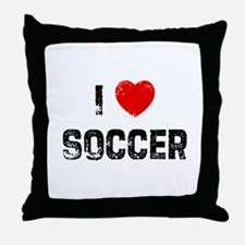 I * Soccer Throw Pillow