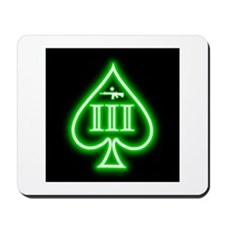 Three Percent - Spade and Rifle - Green Glow Mouse