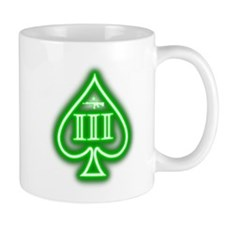 Three Percent - Spade with Rifle Green Glow Small Mug
