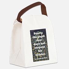 Poor Is The Pupil - da Vinci Canvas Lunch Bag