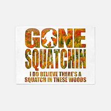 Gone Squatchin *Fall Foliage Forest Edition* 5'x7'