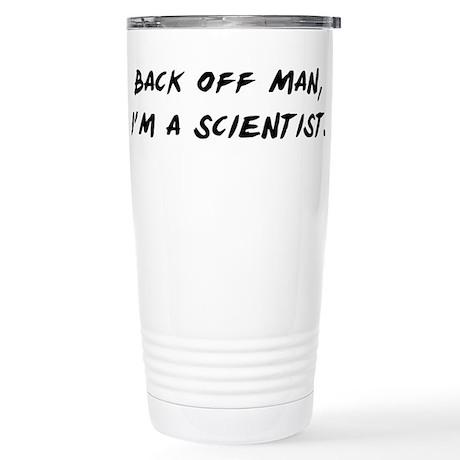 Back off man, Im a Scientist Travel Mug