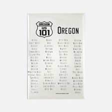 US Route 101 - Oregon Magnet with cities
