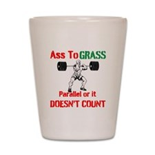 Ass To Grass or it doesnt count Shot Glass