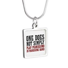 One Does Not Simply Silver Square Necklace