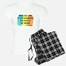 ER nurse my playground WHITES Pajamas