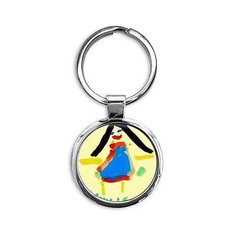 Child's painting - Round Keychain