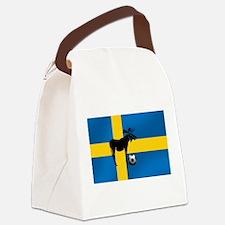 Swedish Soccer Elk Flag Canvas Lunch Bag