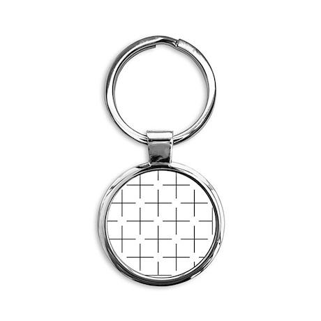 Ehrenstein illusion - Round Keychain