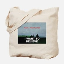 I want to Believe Bayesian Tote Bag