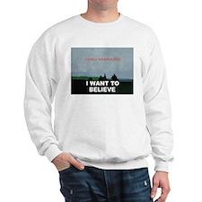 I want to Believe Bayesian Sweatshirt
