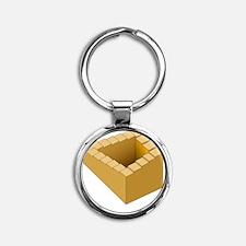 Penrose stairway - Round Keychain