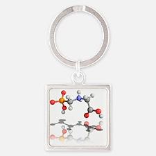 Glyphosate weedkiller molecule - Square Keychain