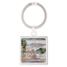 Pisces - Square Keychain