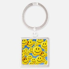 Smiley face symbols - Square Keychain