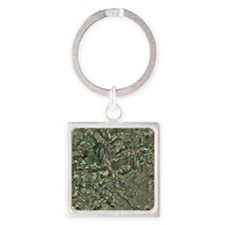 Cardiff, aerial photograph - Square Keychain