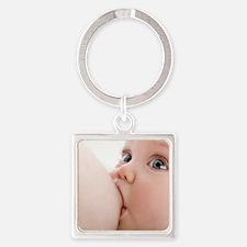 Breastfeeding - Square Keychain