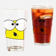 Cartoon Face Drinking Glass