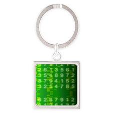 DNA autoradiogram, artwork - Square Keychain