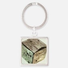 Iron pyrite crystal - Square Keychain