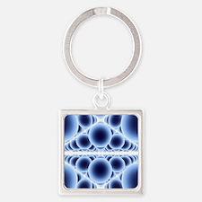 Nanospheres, computer artwork - Square Keychain