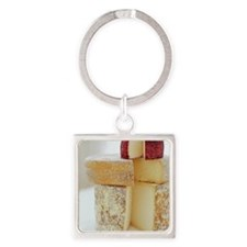 Cheese selection - Square Keychain