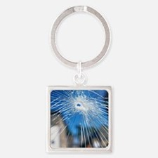 Broken glass - Square Keychain