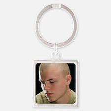 Depressed man - Square Keychain