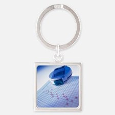 Blood glucose tester - Square Keychain