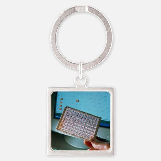 ELISA antibody test - Square Keychain