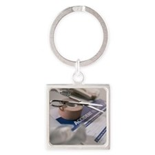 First aid equipment - Square Keychain