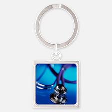 Stethoscope - Square Keychain