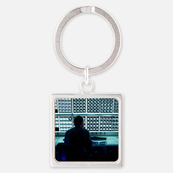 Studying CT scans - Square Keychain