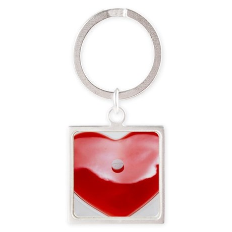 Unhealthy heart - Square Keychain