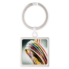 Computer cables - Square Keychain