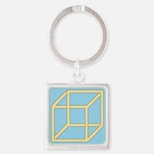 Freemish crate - Square Keychain