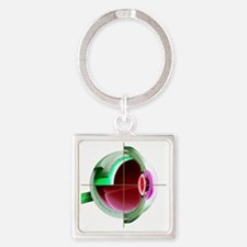 Human eye - Square Keychain