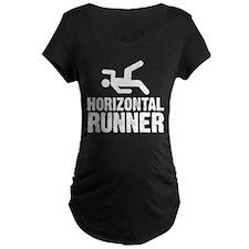 Horizontal Runner Maternity T-Shirt