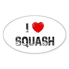 I * Squash Oval Decal