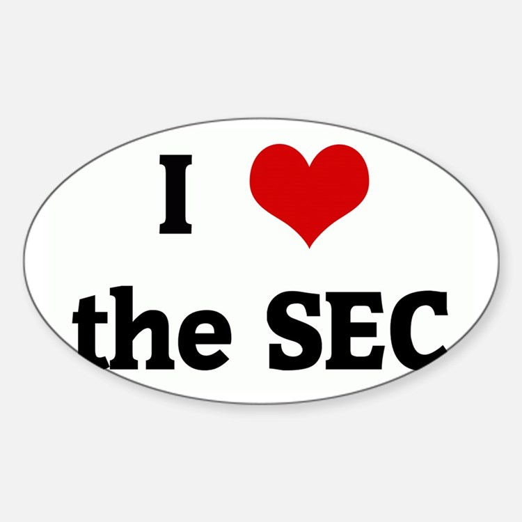 I Love the SEC Rectangle Decal