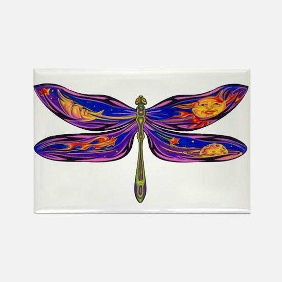Celestial Fantasy Dragonfly Rectangle Magnet
